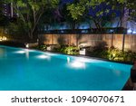 pool lighting in backyard at... | Shutterstock . vector #1094070671