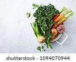 an arrangement of fresh... | Shutterstock . vector #1094070944