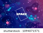 Stock vector space banner cosmos universe infinity vector illustration 1094071571
