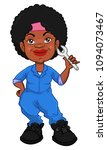 cute garage girl pose while...   Shutterstock .eps vector #1094073467