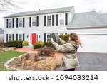 young woman  female homeowner... | Shutterstock . vector #1094083214