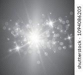 glowing lights effect  flare ... | Shutterstock .eps vector #1094086205