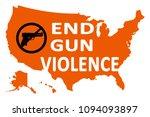 end gun violance background...   Shutterstock . vector #1094093897