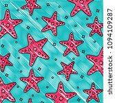sea stars pattern | Shutterstock .eps vector #1094109287