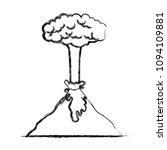 erupting volcano natural...   Shutterstock .eps vector #1094109881