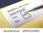 politics  are you interested ... | Shutterstock . vector #1094114405