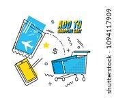 cart shopping on line pop art | Shutterstock .eps vector #1094117909