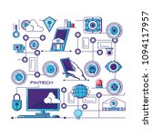 financial technology set icons | Shutterstock .eps vector #1094117957