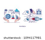 financial technology set icons | Shutterstock .eps vector #1094117981