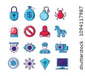 financial technology set icons | Shutterstock .eps vector #1094117987