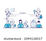 financial technology set icons | Shutterstock .eps vector #1094118317