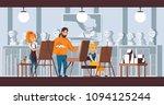 art studio group scene. vector... | Shutterstock .eps vector #1094125244