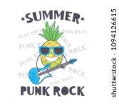 summer punk rock. vector... | Shutterstock .eps vector #1094126615