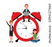 teacher man woman and student... | Shutterstock .eps vector #1094127464