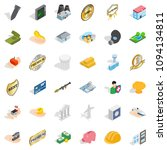 building icons set. isometric... | Shutterstock . vector #1094134811