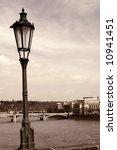 old picture of river vlatva in... | Shutterstock . vector #10941451