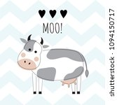 lovely cow on a background of...   Shutterstock .eps vector #1094150717