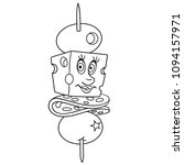 coloring page. coloring book.... | Shutterstock .eps vector #1094157971