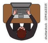 top view of businessman working ... | Shutterstock .eps vector #1094163335
