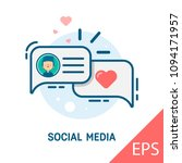 social media. onboarding screen ... | Shutterstock .eps vector #1094171957
