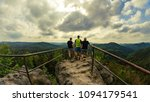 three friends with a great view ... | Shutterstock . vector #1094179541