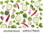 vegetable and spices isolated... | Shutterstock . vector #1094179835