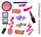 collage of decorative cosmetics ...   Shutterstock . vector #1094194121