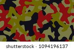 bright colorful camouflage.... | Shutterstock .eps vector #1094196137