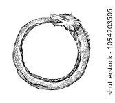 ouroboros logo   ink tattoo... | Shutterstock .eps vector #1094203505