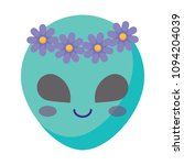 cute alien icon | Shutterstock .eps vector #1094204039