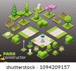 isometric park constructor. set ...   Shutterstock .eps vector #1094209157
