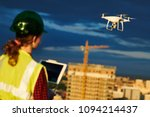 drone inspection. operator... | Shutterstock . vector #1094214437
