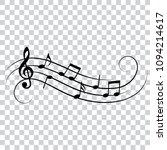 musical design element  music... | Shutterstock .eps vector #1094214617