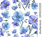 blue flax. floral botanical...   Shutterstock . vector #1094215235