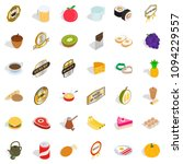 cherry icons set. isometric... | Shutterstock . vector #1094229557