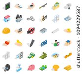 college icons set. isometric... | Shutterstock . vector #1094229587