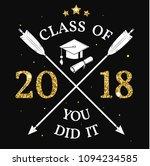 vector class of 2018 badge.... | Shutterstock .eps vector #1094234585