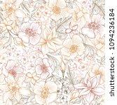 floral seamless pattern. flower ... | Shutterstock .eps vector #1094236184