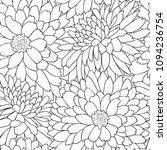 floral seamless pattern. flower ... | Shutterstock .eps vector #1094236754