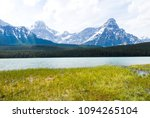 lower waterfowl lake and mt... | Shutterstock . vector #1094265104