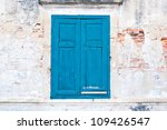 Old Window With Blue Shutters....