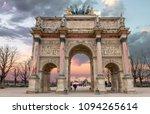 triumphal arch  arc de triomphe ... | Shutterstock . vector #1094265614