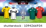 football cup 2018 team group f  ...   Shutterstock .eps vector #1094266934