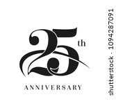 25th anniversary celebration... | Shutterstock .eps vector #1094287091