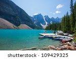 moraine lake at banff national... | Shutterstock . vector #109429325