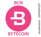 bytecoin coin cryptocurrency... | Shutterstock .eps vector #1094304107