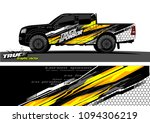 pickup truck livery graphic...   Shutterstock .eps vector #1094306219