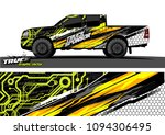 pickup truck livery graphic...   Shutterstock .eps vector #1094306495