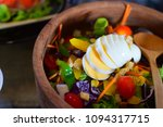 egg salad is a menu for health... | Shutterstock . vector #1094317715