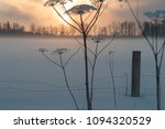 dry hogweed in winter on a... | Shutterstock . vector #1094320529